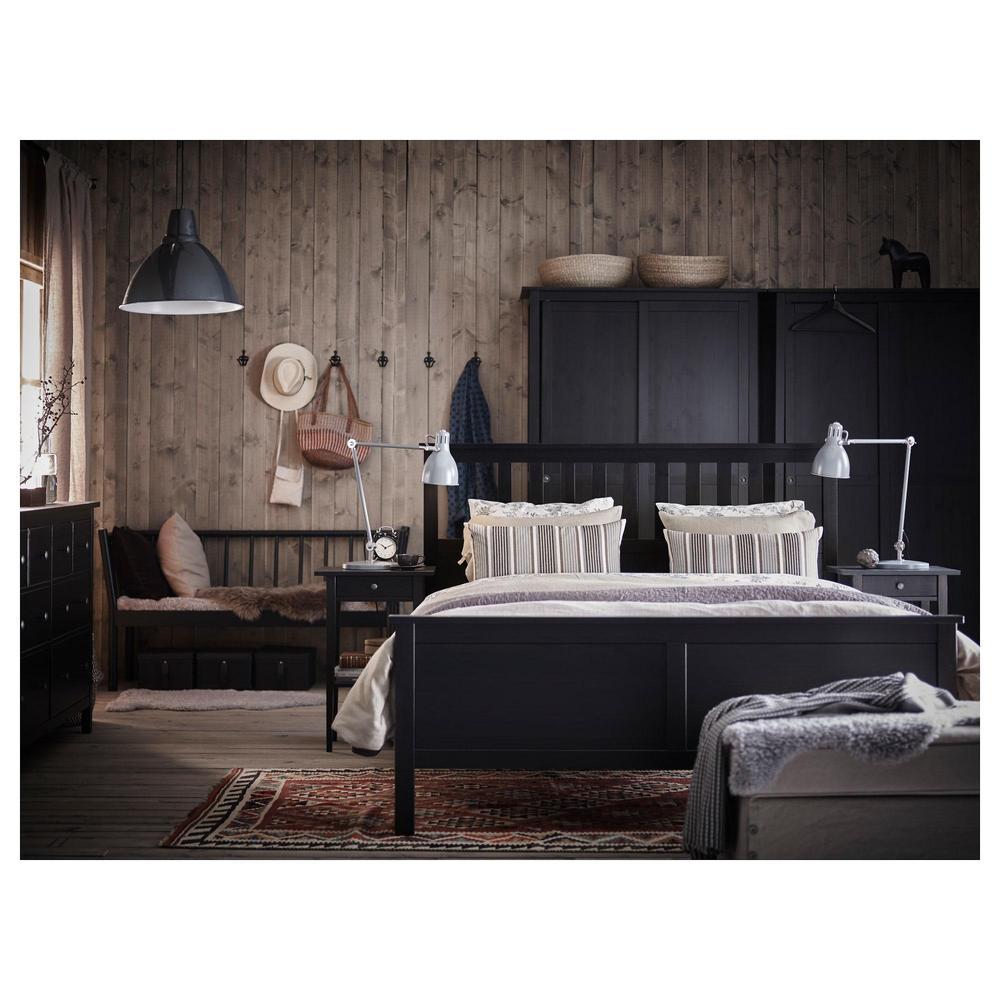 Hemnes Bedbank Met 3 Lades.Hemnes Bed Frame 180x200 Cm Black Brown 092 108 24