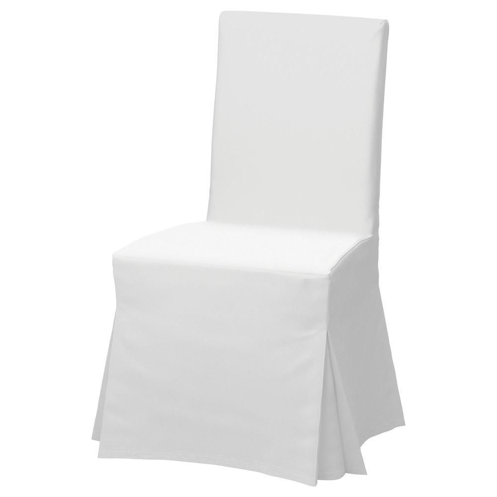 HENRIKSDAL Stol med langt trekk hvitRisane grå IKEA