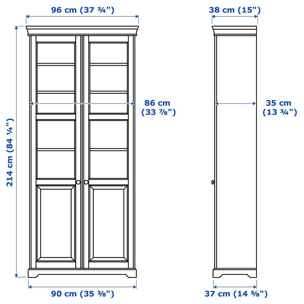 p fife glass gumtree other bookcase doors cupar liatorp in goods grey ikea household with