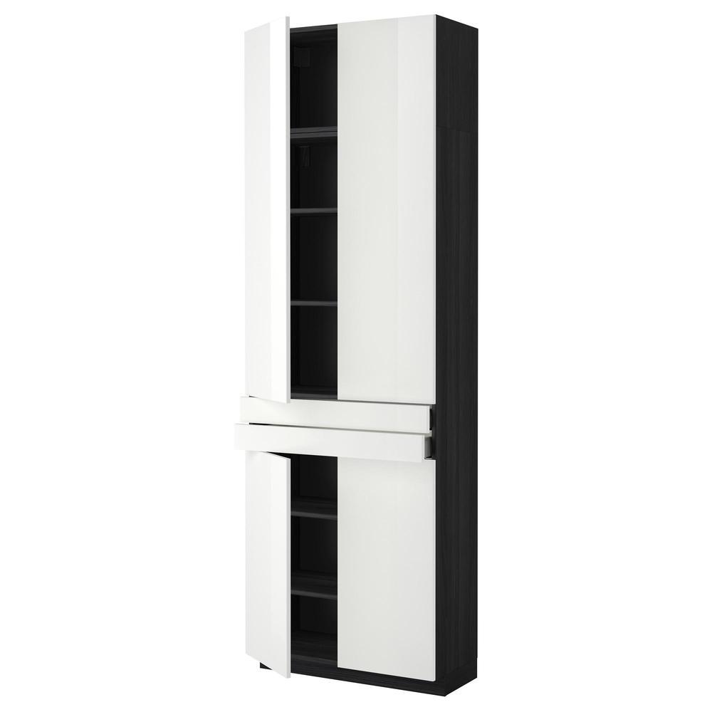 methode maximer hochschrank regale 2 schublade 4 t ren f r holz schwarz ringult. Black Bedroom Furniture Sets. Home Design Ideas