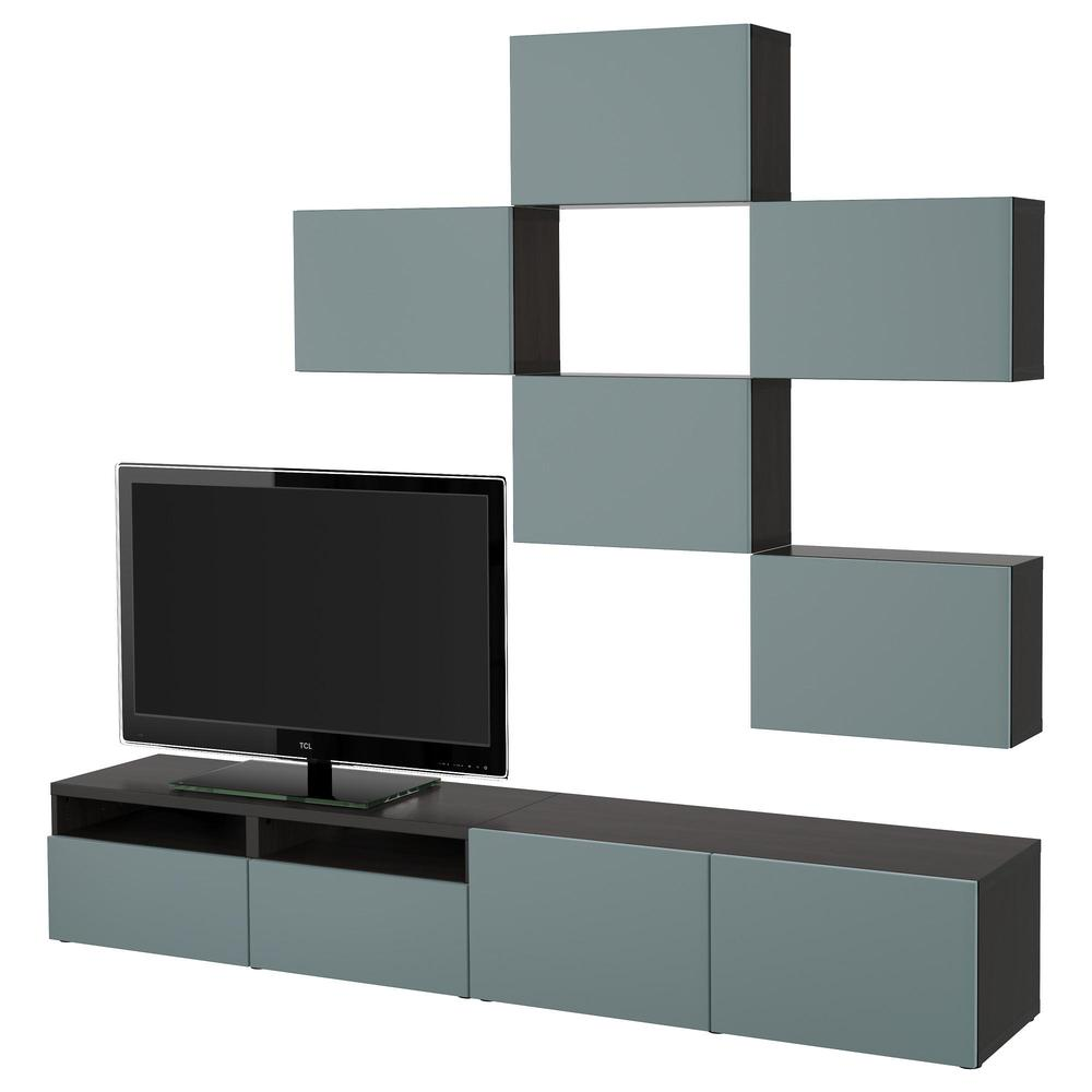 besto tv schrank kombination schwarz braun valviken grau t rkis schubladenf hrungen glatt. Black Bedroom Furniture Sets. Home Design Ideas