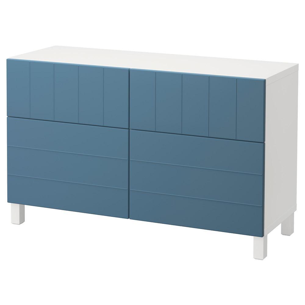 Besto combi per deposito con ante cassetti bianco hallstack blu scuro guide per cassetti - Guide per cassetti ikea ...