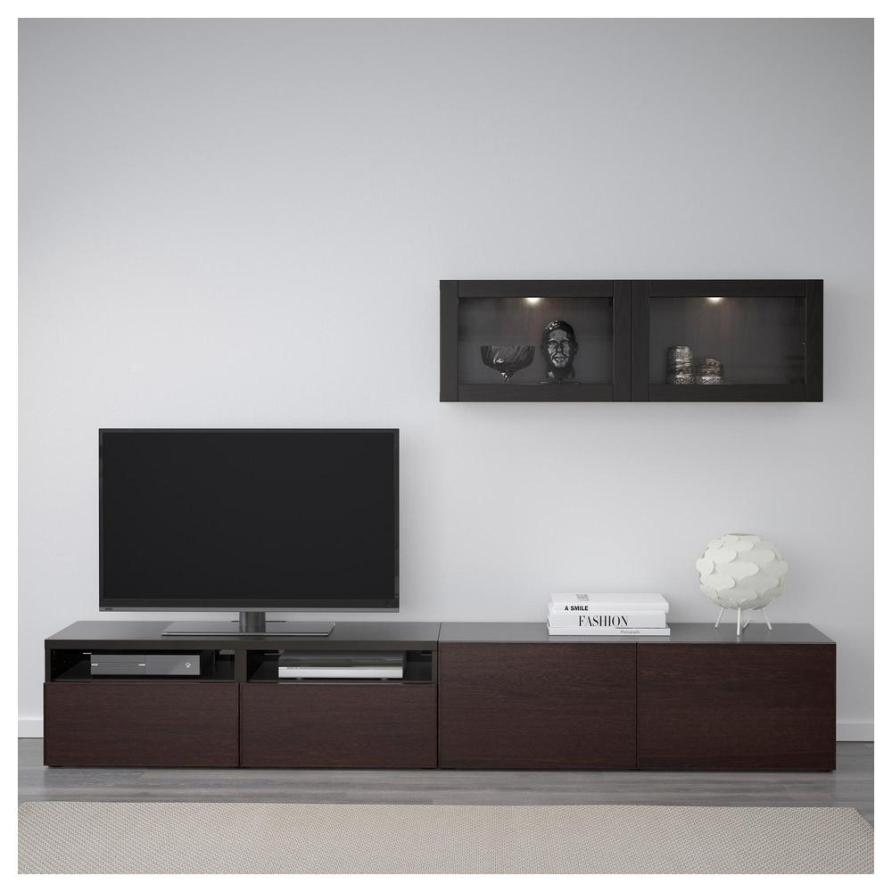 besto tv schrank kombiniert glast ren schwarz und. Black Bedroom Furniture Sets. Home Design Ideas