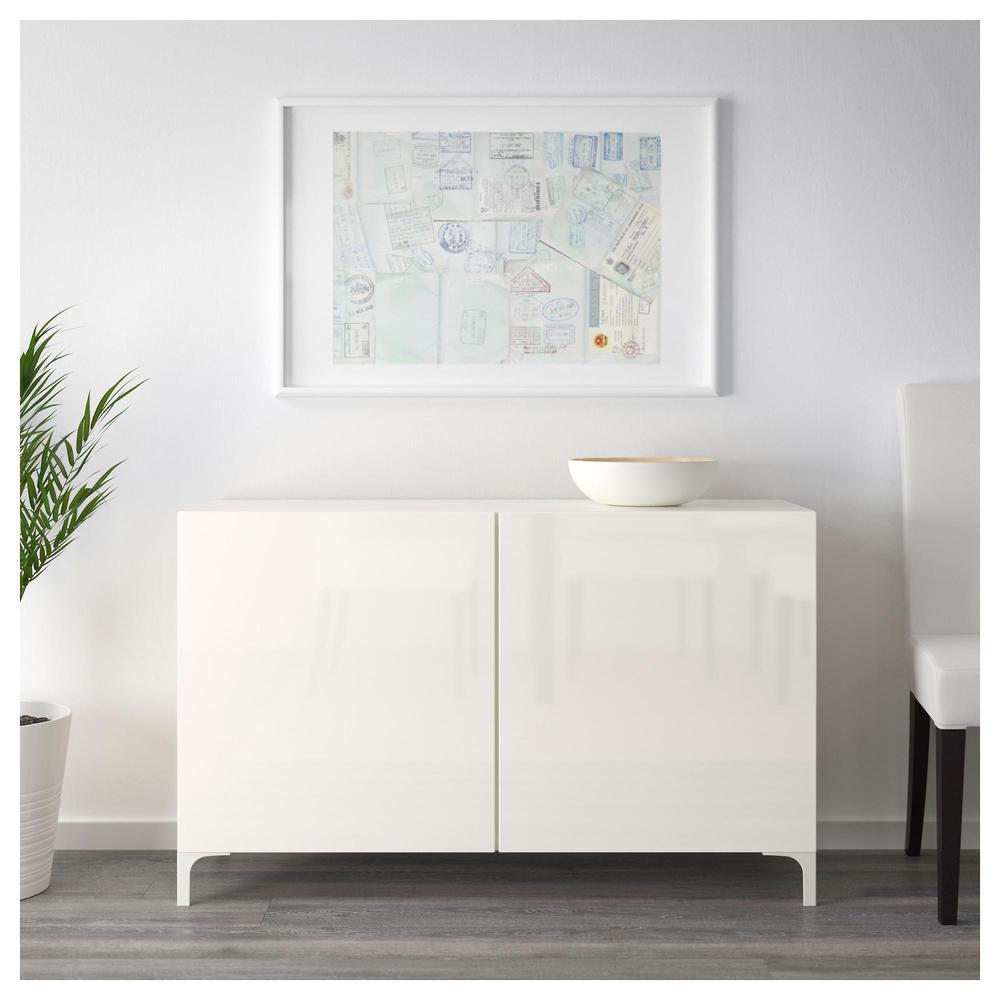 combinazione BESTÅ con porte bianco Selsviken lucido bianco