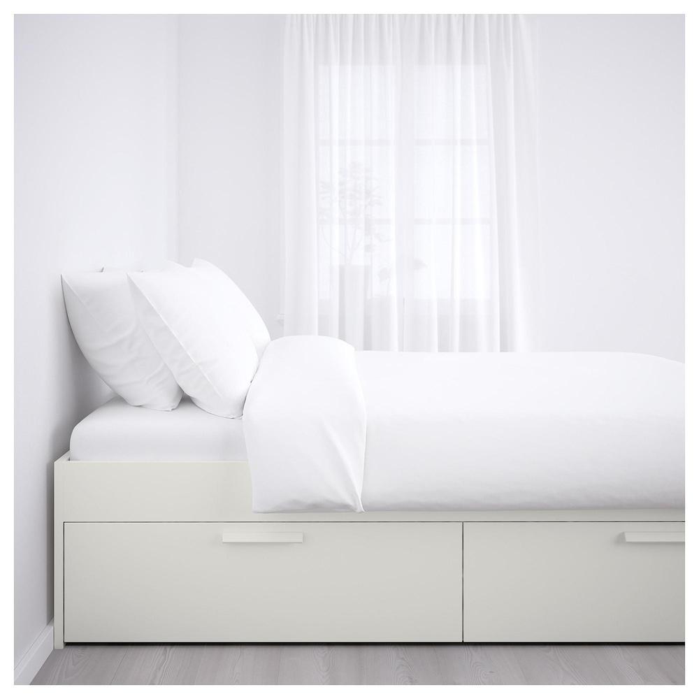 Brimnes Rama łóżka Z Szufladami 140x200 Cm Luroy
