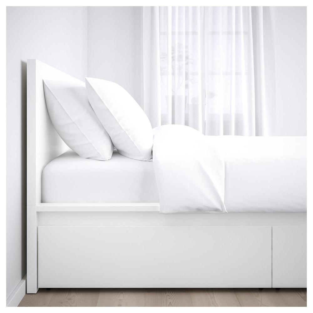 malm bed frame 2 bedbox white reviews price where to buy