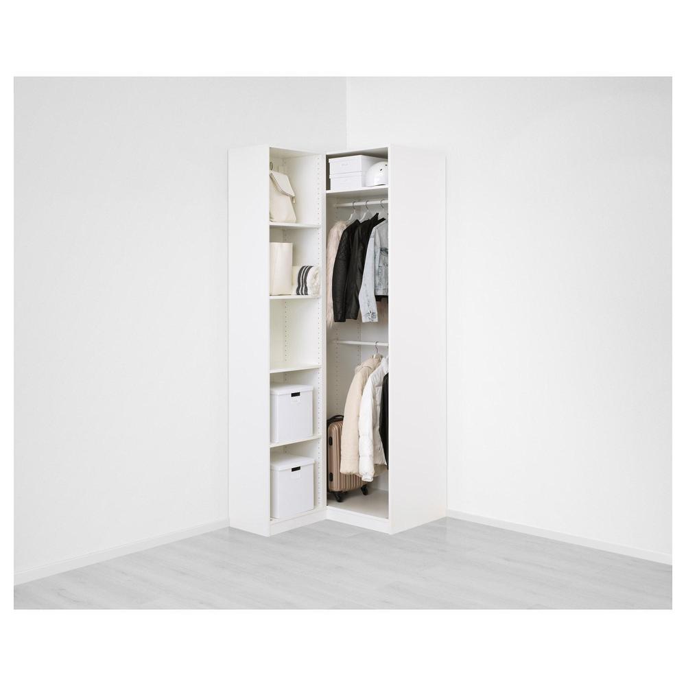 hjørne klædeskab PAX hjørne klædeskab   111 / 88x236 cm (192.183.44)   anmeldelser  hjørne klædeskab