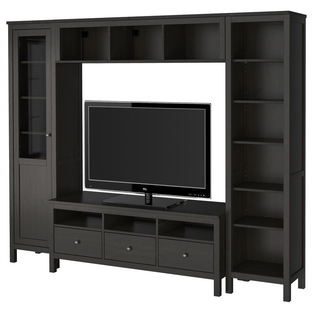 ХЕМНЭС Шкаф для ТВ, комбинация - черно-коричневый (192.310.48 ...