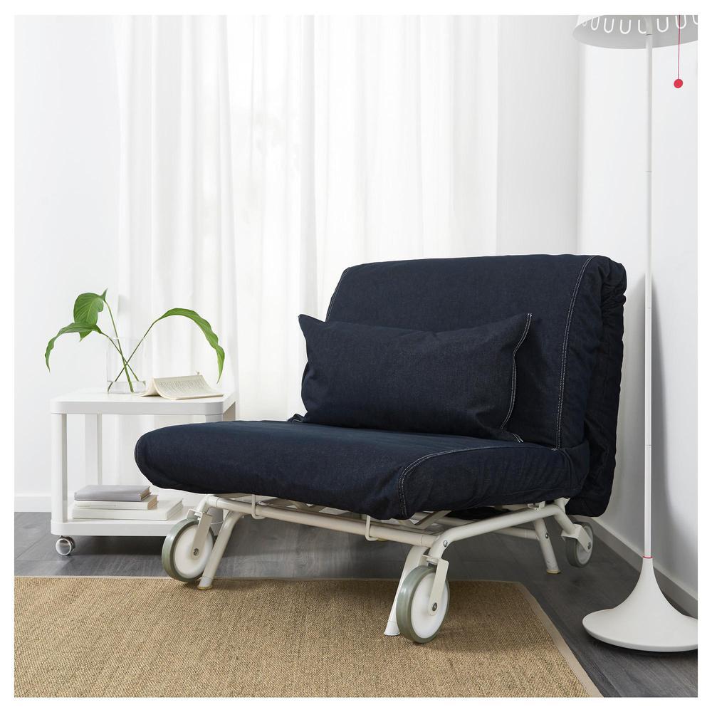 Ikea Ps Murbo Fotel Rozkładany Vansta Ciemnoniebieski Vansta Ciemnoniebieski