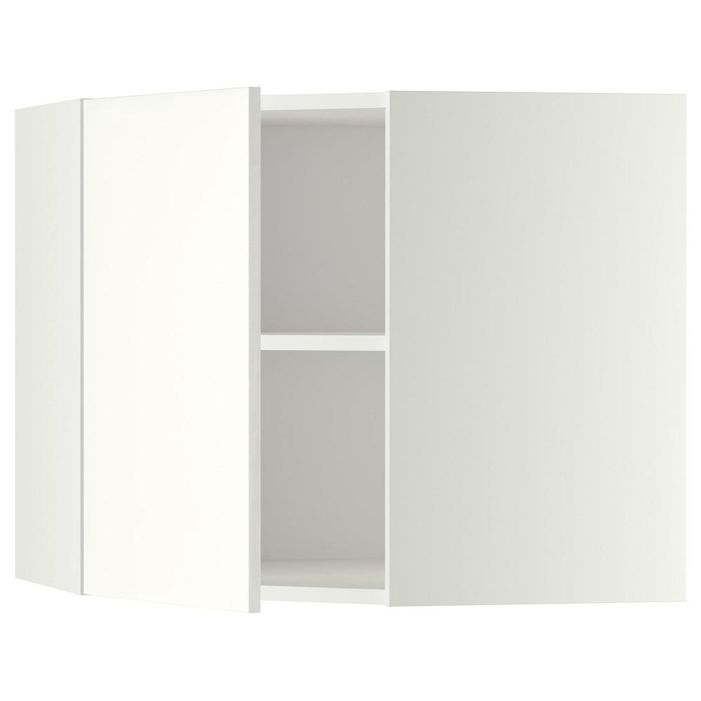 Pensile Angolare Cucina Ikea metodo armadio ad angolo con ripiani - bianco, haggebi white, 68x60 cm