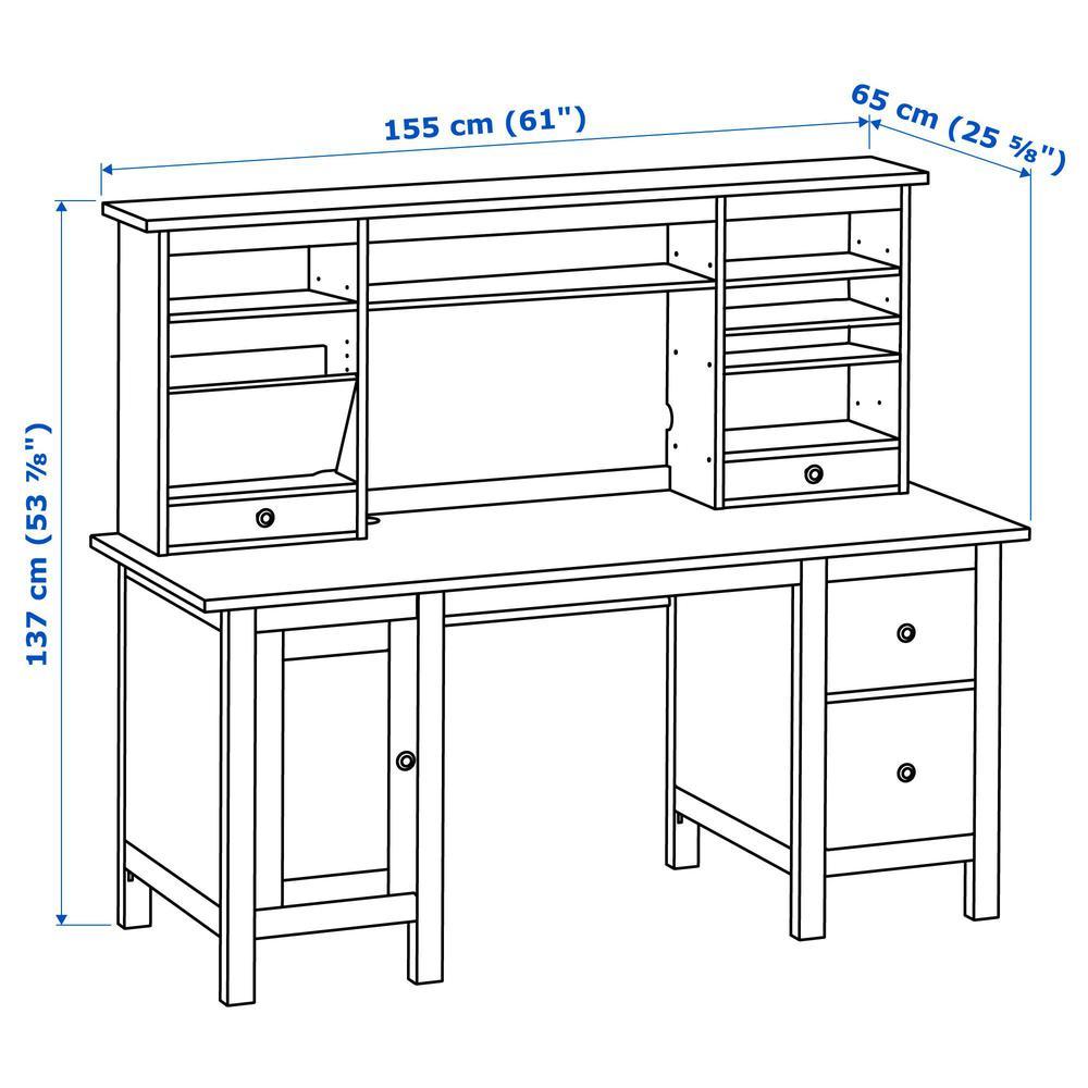 Spiksplinternieuw HEMNES Tisch mit Zusatzmodul - weißer Fleck (290.005.04 IU-82