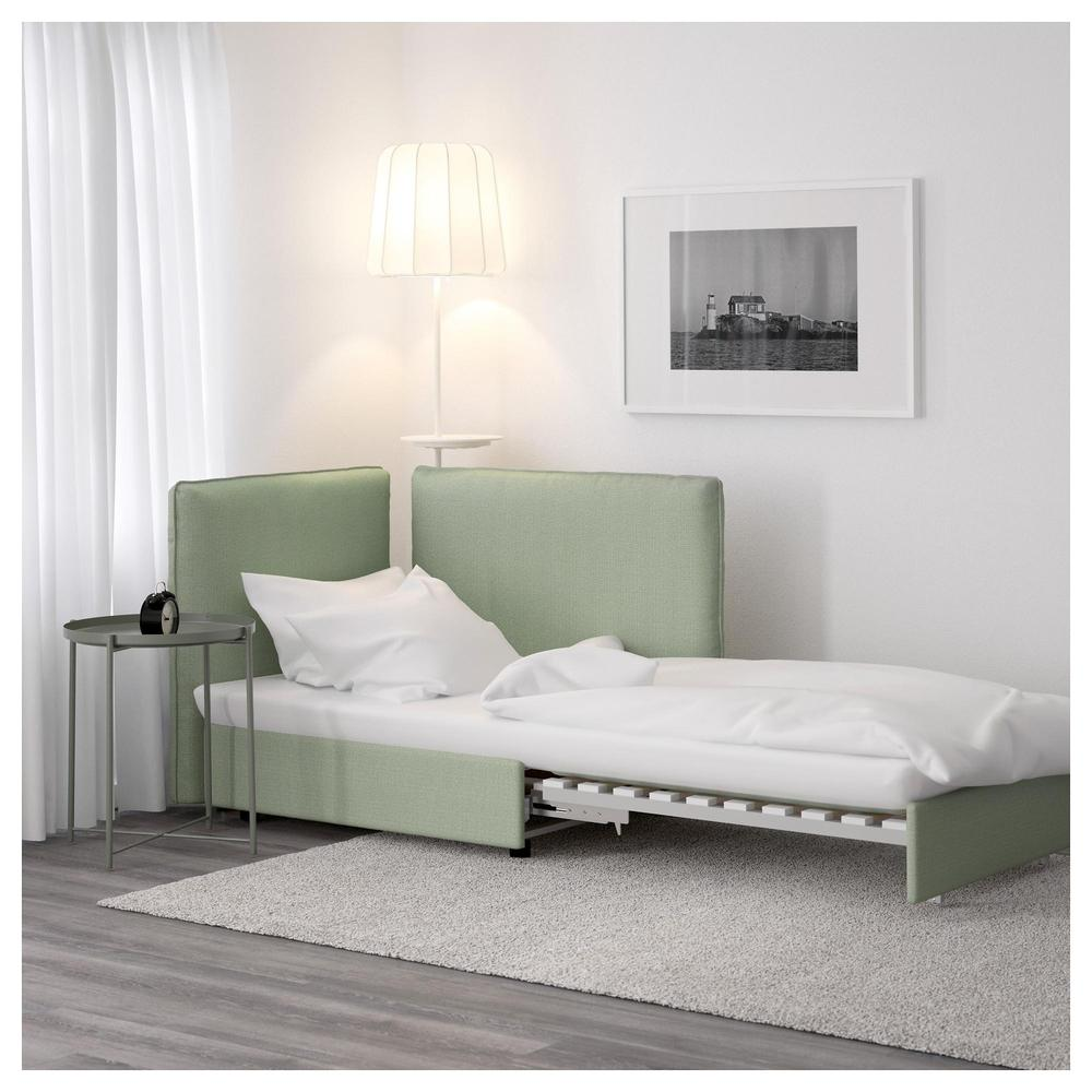 Vallentuna Sofa Bed Section With Backrest Hillarred Green Hillared Green