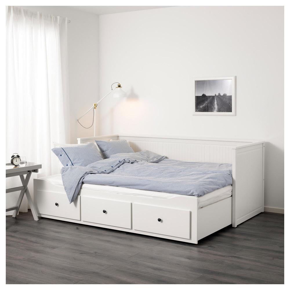 hemnes couch mit 2 matratzen 3 schubladen wei huswika hart bewertungen. Black Bedroom Furniture Sets. Home Design Ideas