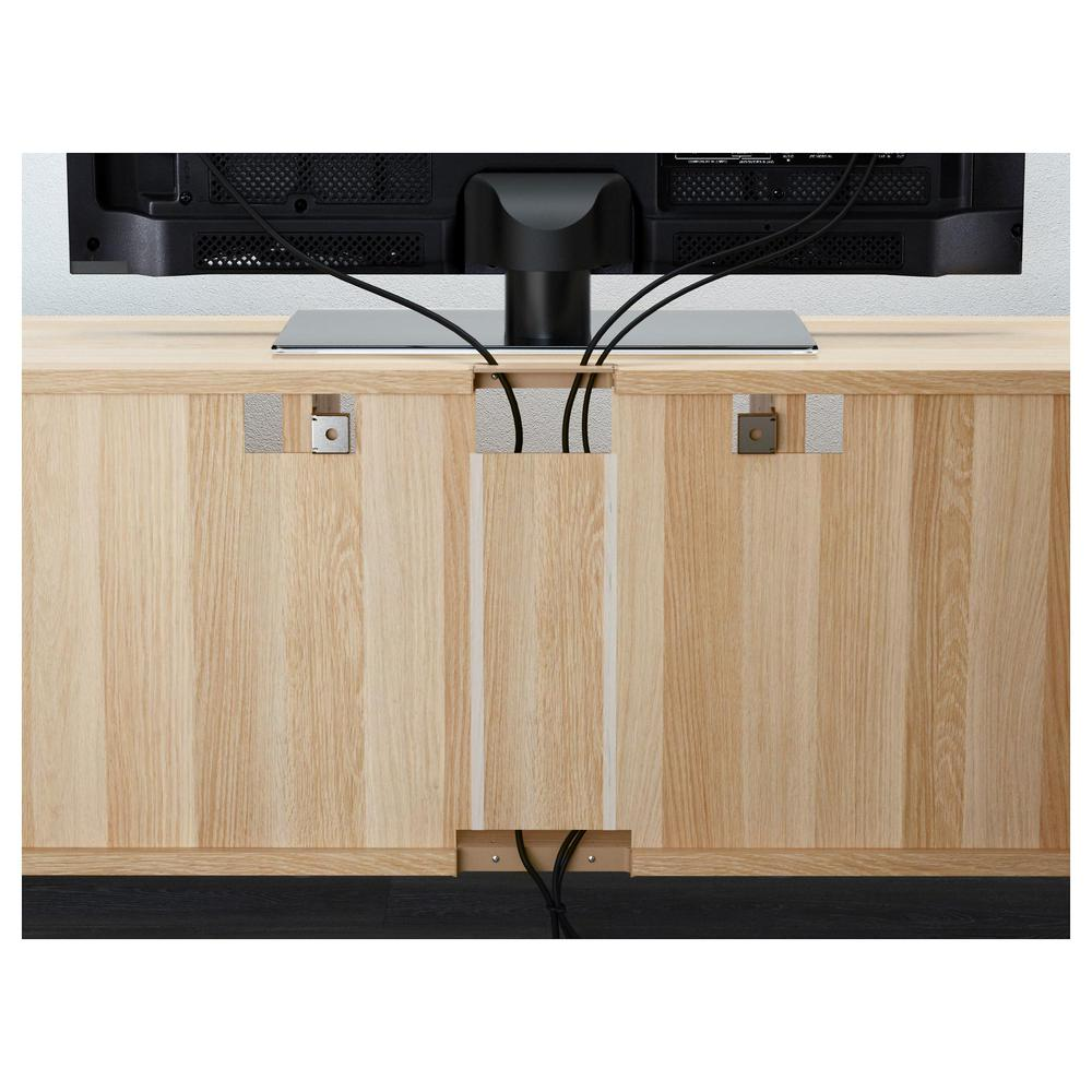 best tumba unter dem fernseher unter gebleicht eiche selsviken gl nzend wei es glasglas. Black Bedroom Furniture Sets. Home Design Ideas