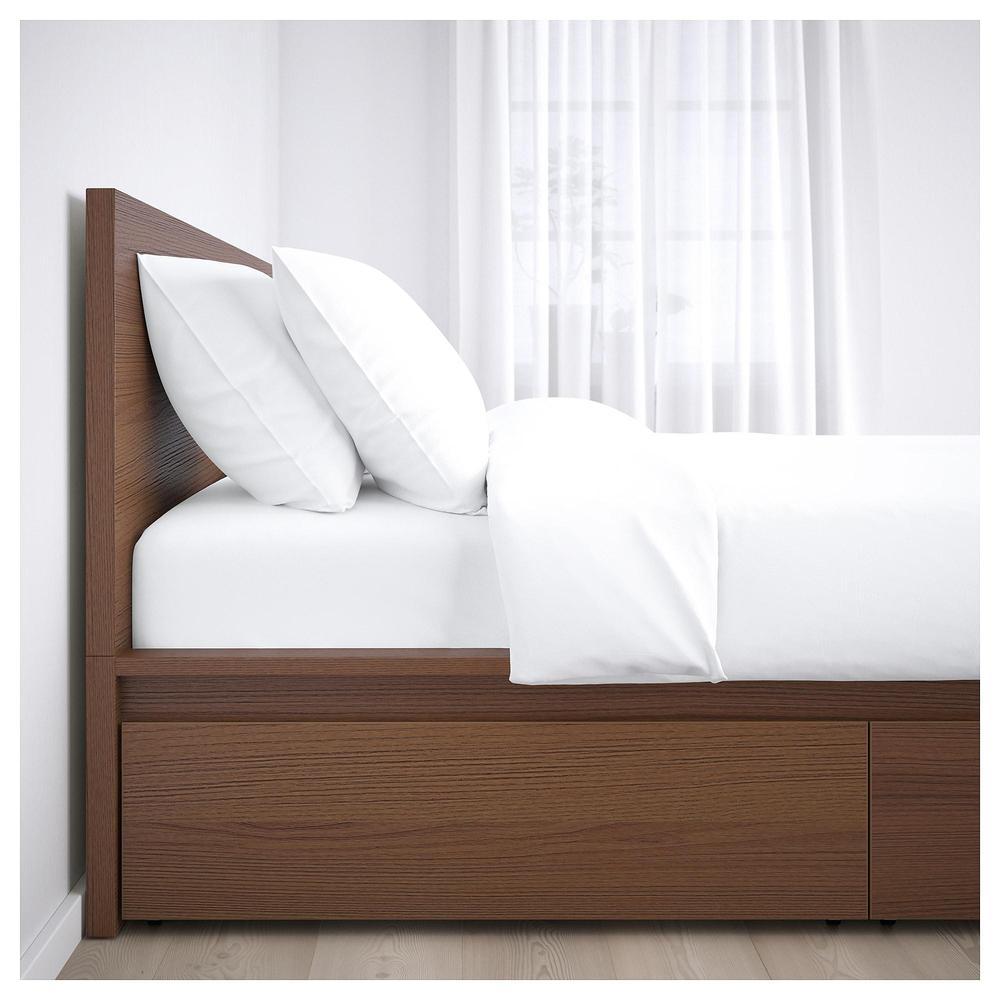 MALM Marco de cama + 2 cajón de la cama - 180x200 cm, Lonset ...