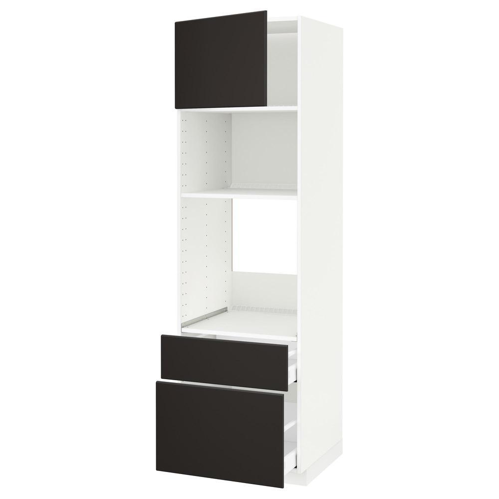 METODO MASSIMO Alta armadio forno microonde porta 2 bianco, Kungsbacka antracite, 60x60x200 cm