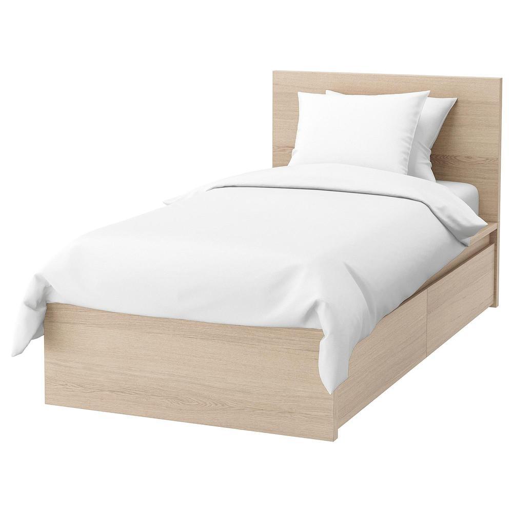 malm cadre de lit + tiroir de lit 2 - 90x200 cm, leirsund (292.278