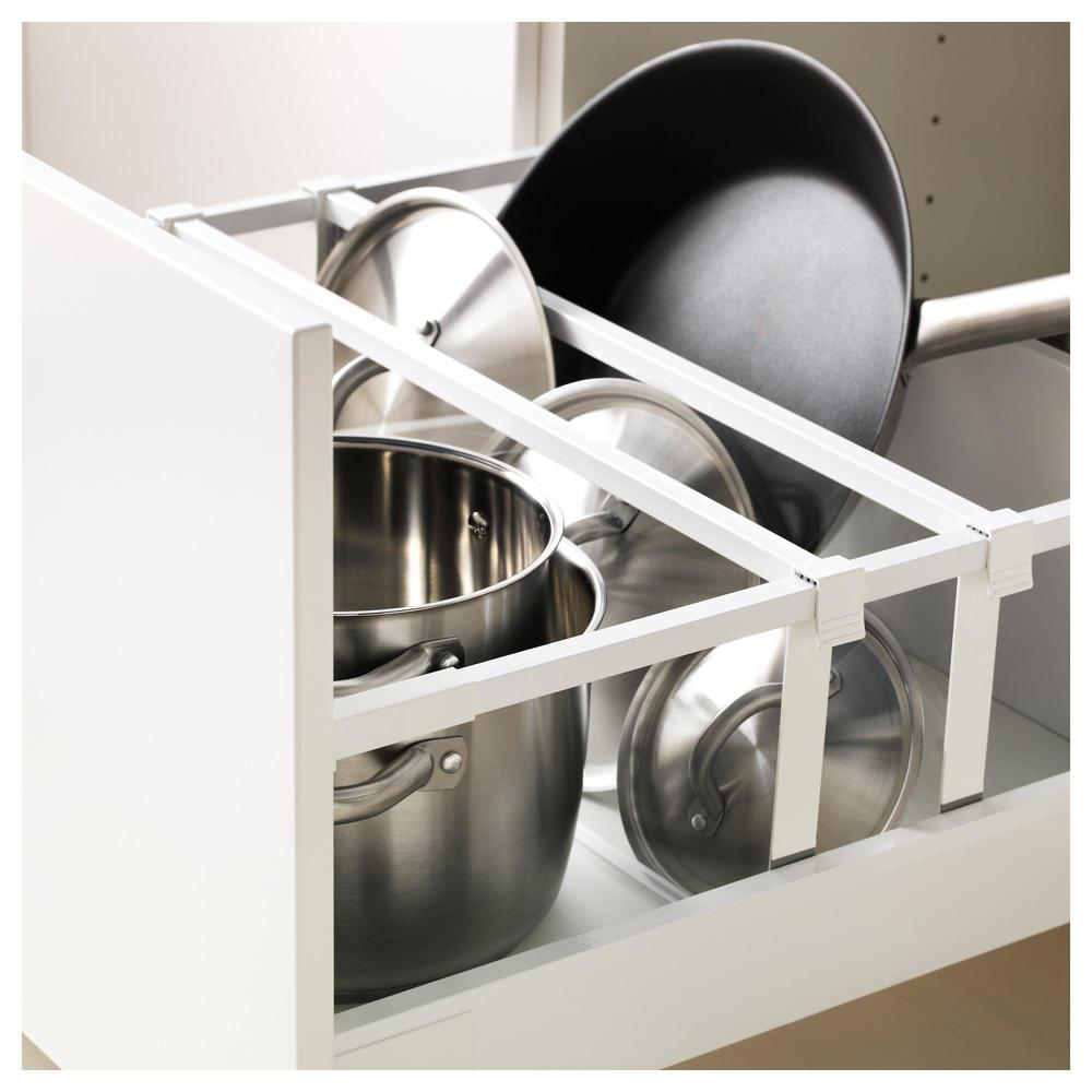 METODO MAKSIMERA Mobile alto d forno microonde porta 2yasch bianco, da sposa bianco, 60x60x220 cm