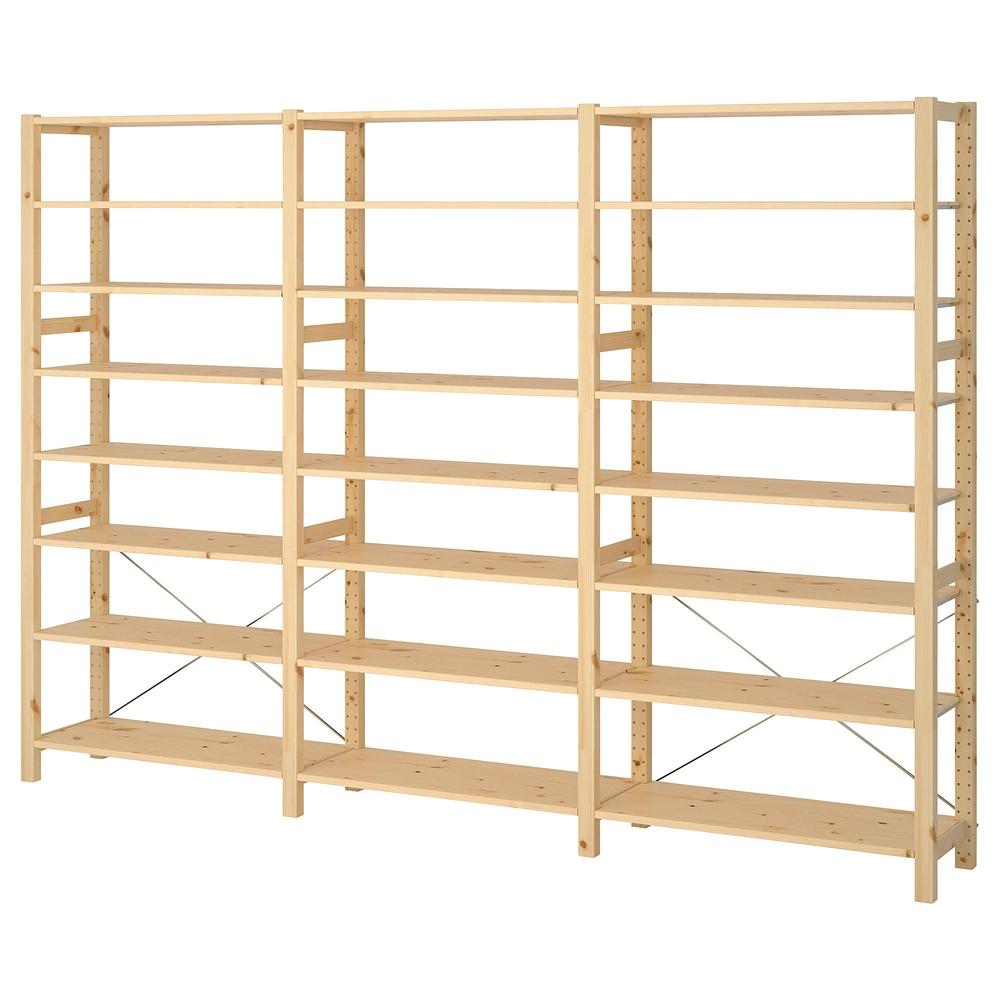 Ikea Scaffali Legno Ivar sezioni ivar 3 / scaffali