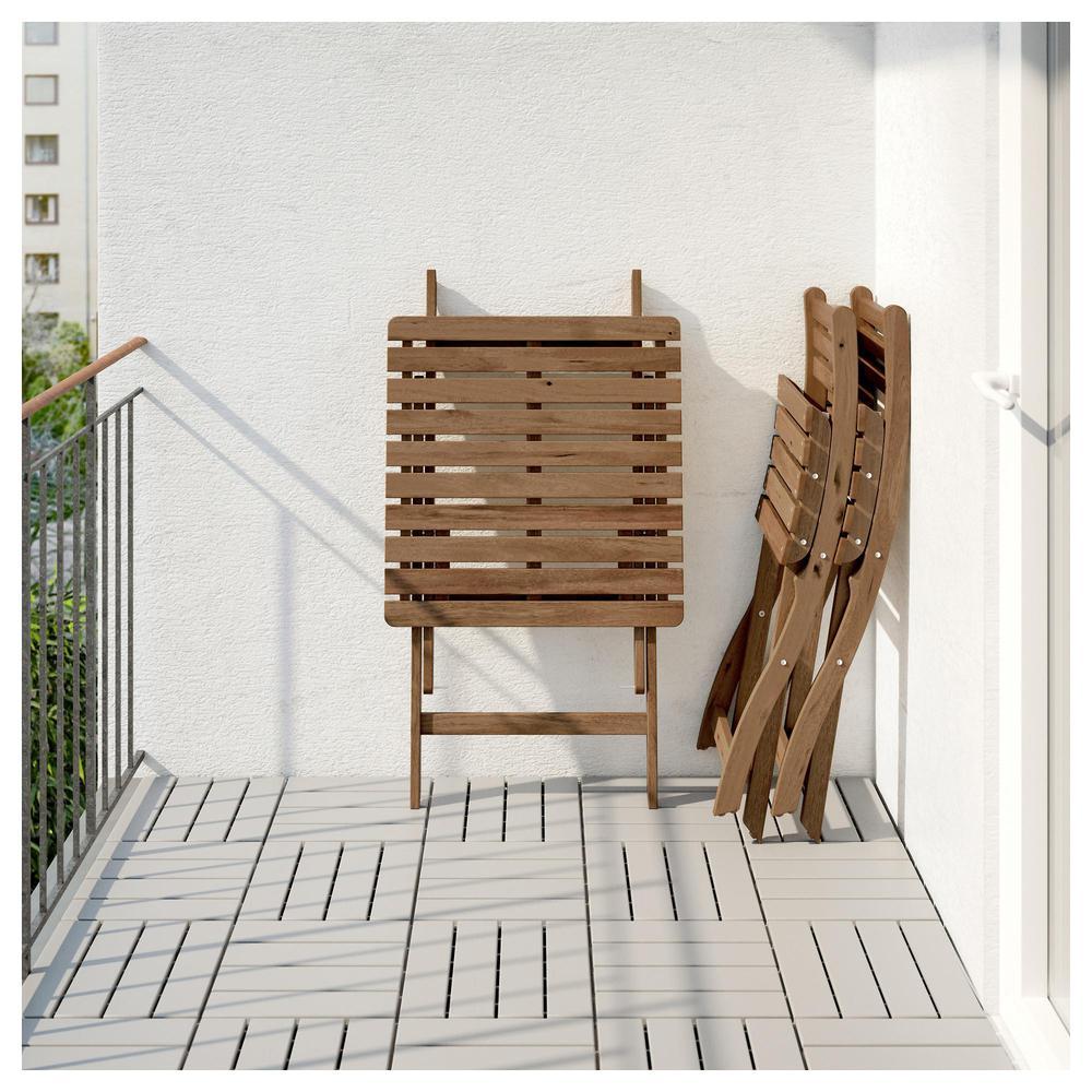 Ikea askholmen  ASKHOLMEN Masa + 2stool, d / bahçe (299.300.59) - Değerlendirmeler ...