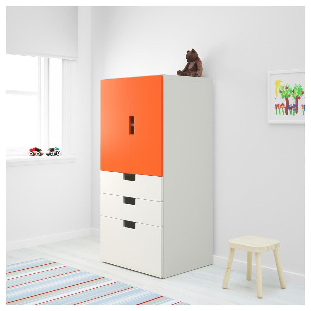 Stuva El Para Almacenamiento Puertas Naranja Con Blanco Combe Cajones D9YWE2IH