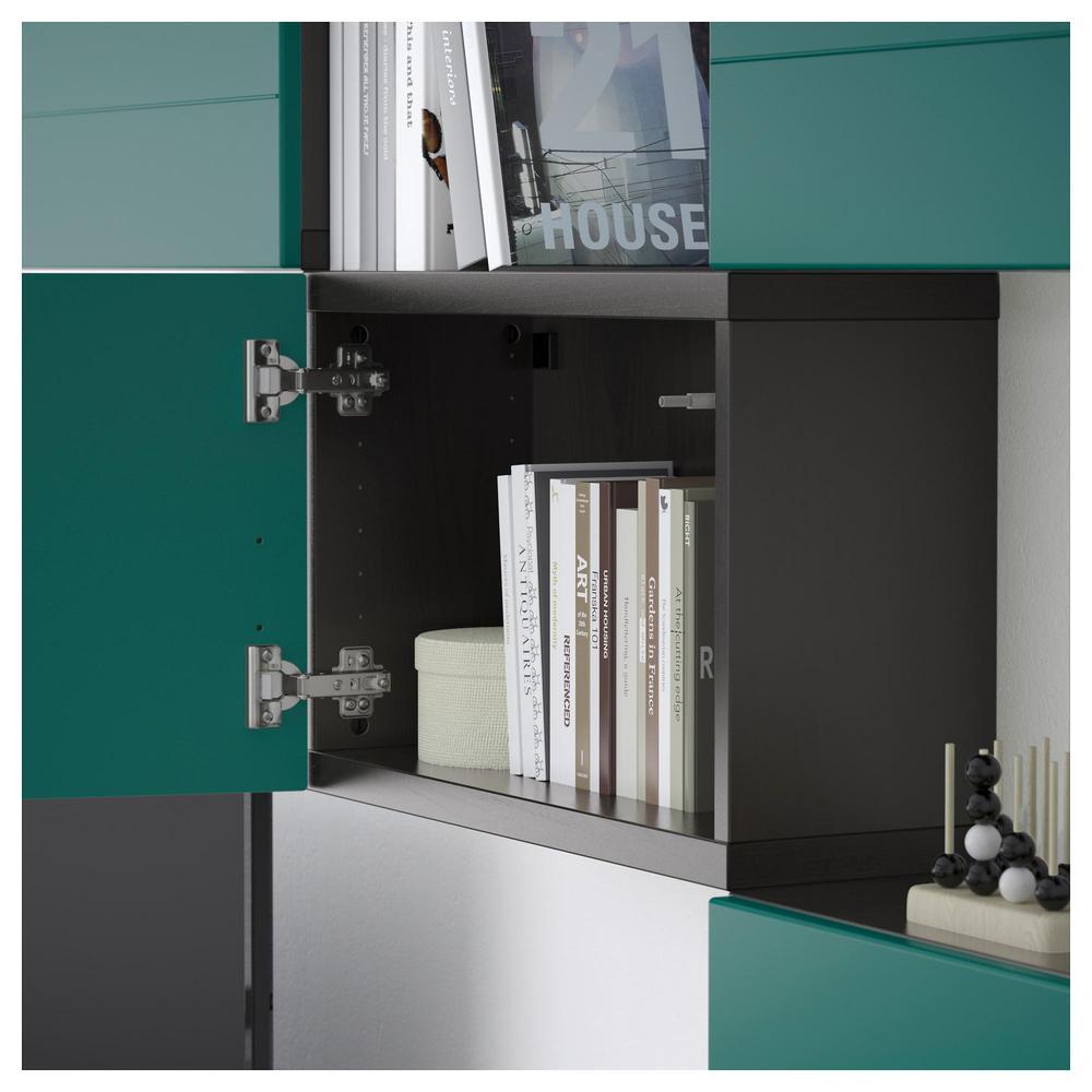 Meuble Tv Besto Combinaison Noir Brun Hallstack Bleu Vert  # Meuble Tv Vert
