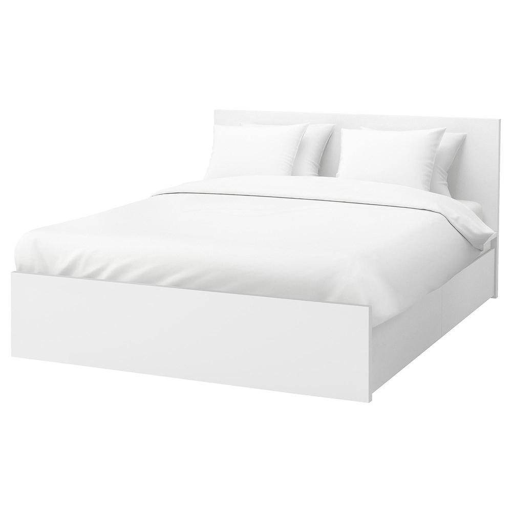 Malm Bed Frame With 2 Drawers 160x200 Cm White 392 110 25 Reviews Price Where To Buy