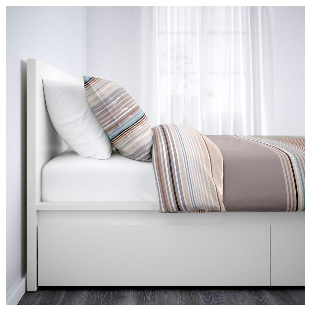 Malm Bed Frame With 2 Drawers 160x200 Cm White 392 110 25