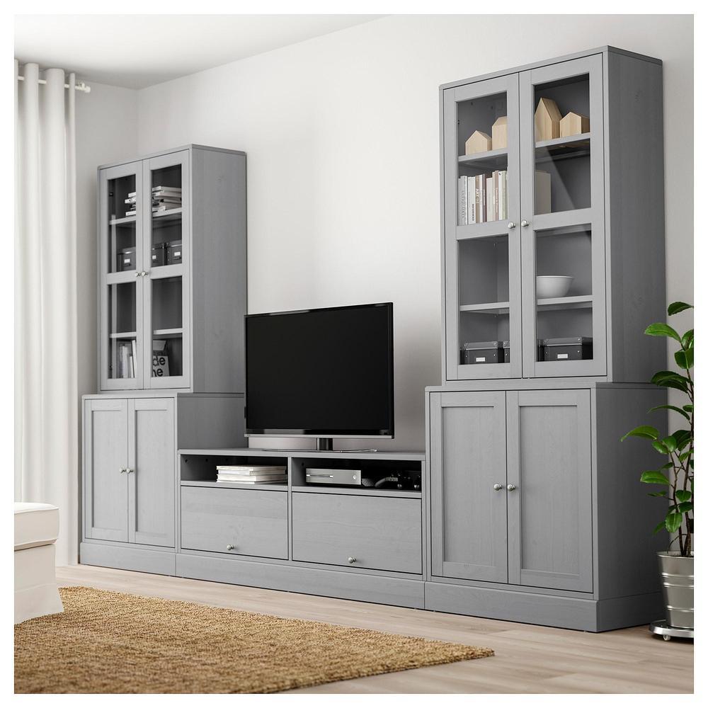 Havsta Tv Schrank Kombinierte Glasturen Grau 392 658 29