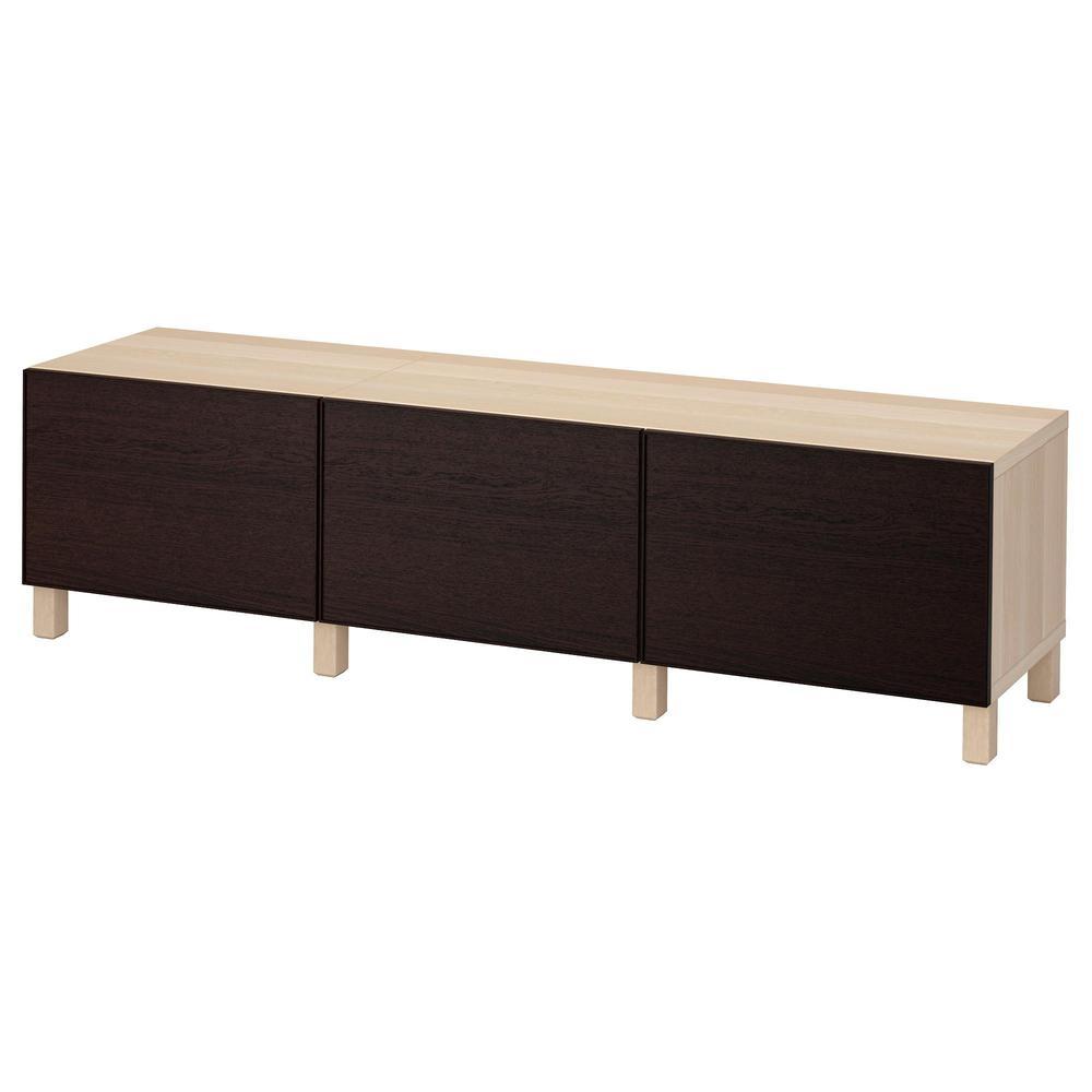 Besto combinaison pour rangement avec tiroirs sous ch ne for Ikea chene blanchi