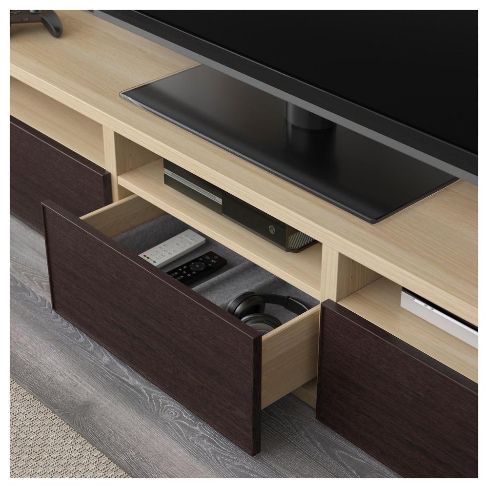 Best mobile tv combinato porta di vetro un rovere - Porta tv in vetro ikea ...