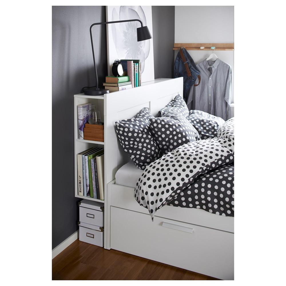 BRIMNES Marco de cama con cabecero - 160x200 cm, Lonset (492.107.42 ...