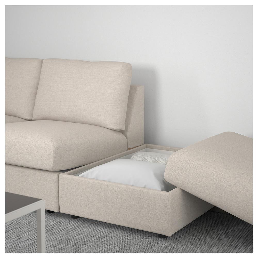 VIMLE 3 paikallinen sohva avoin pää Gunnared beige