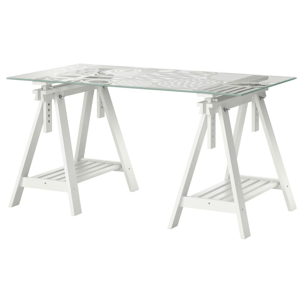Ikea Schreibtisch Glas