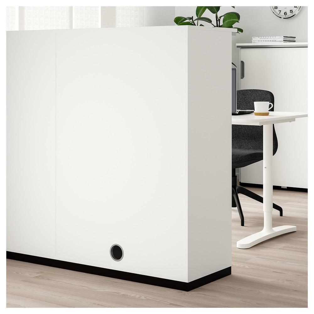 Galant combinaison pour rangement avec portes blanc 591 for Stockage ikea galant