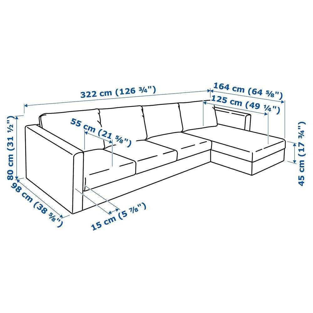 8d458e1b74da ВИМЛЕ 4-местный диван - с козеткой Фарста черный (592.070.46 ...