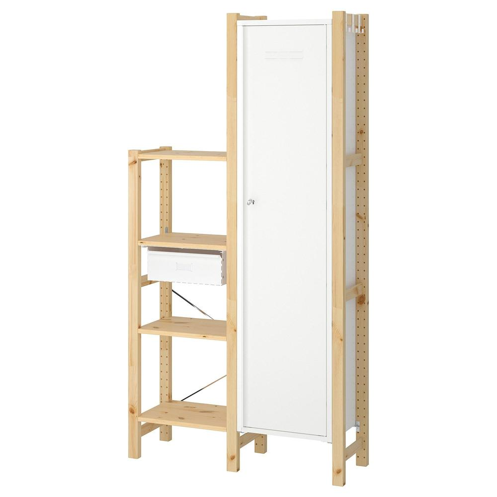 Ikea Scaffali Legno Ivar sezioni ivar 2 / ripiani / armadio
