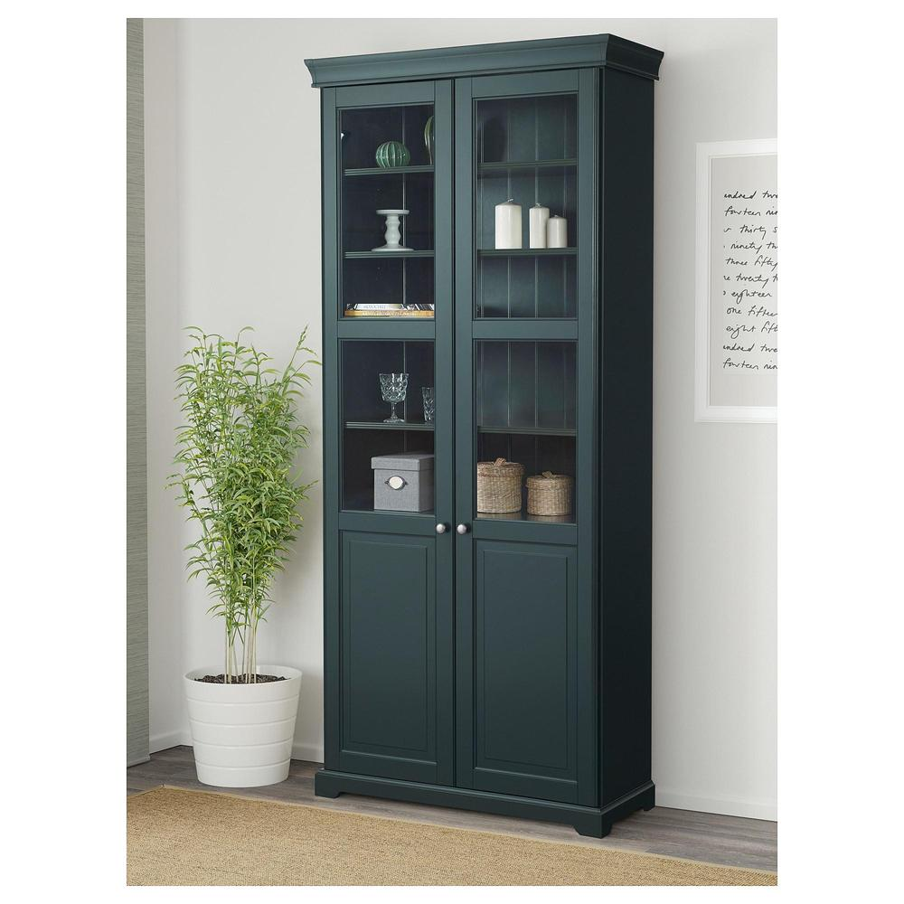 comprar vitrina liatrop verde oliva de ikea