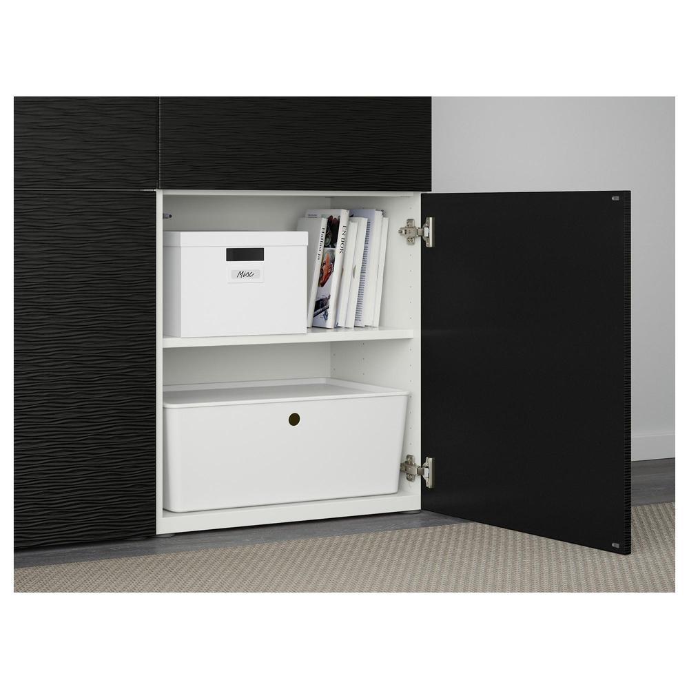 besto kombination f r lagerung mit t ren wei laxviken schwarz bewertungen. Black Bedroom Furniture Sets. Home Design Ideas