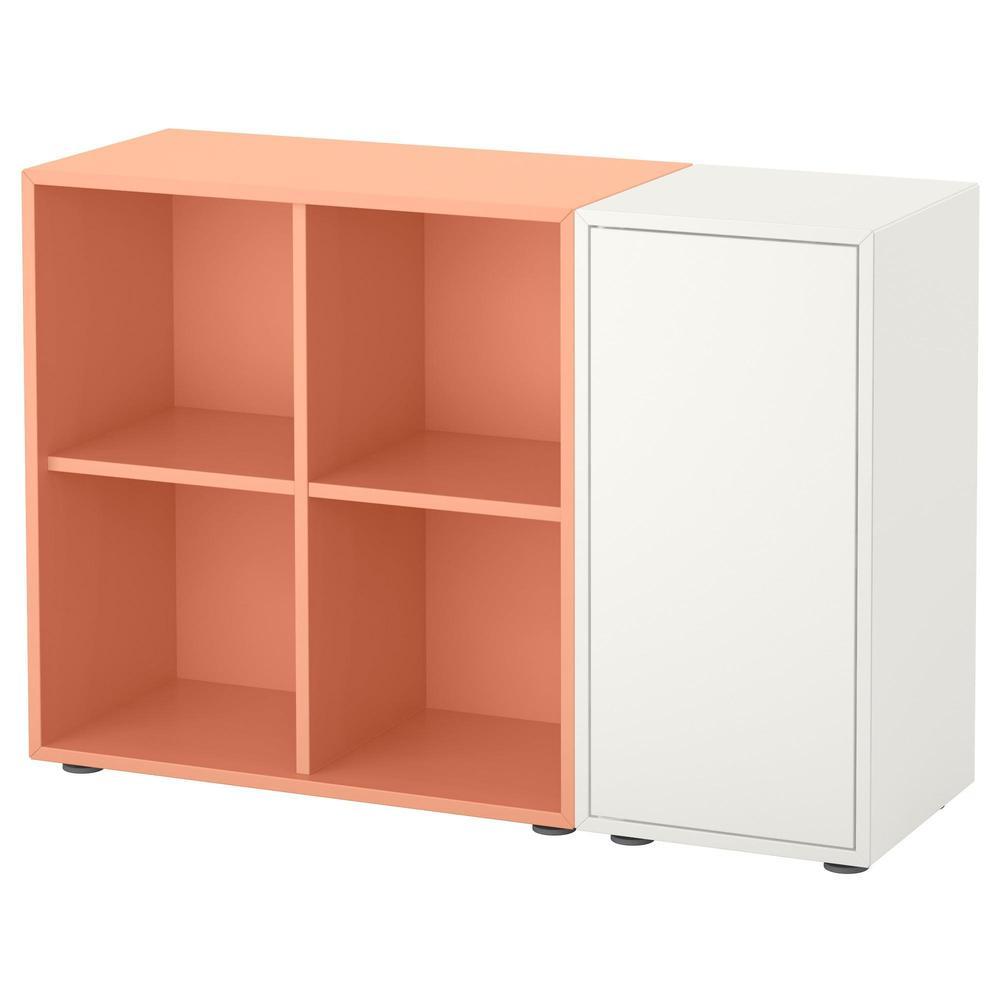 Gambe Per Mobili Ikea eket combinazione di armadi con le gambe - bianco / arancio luce