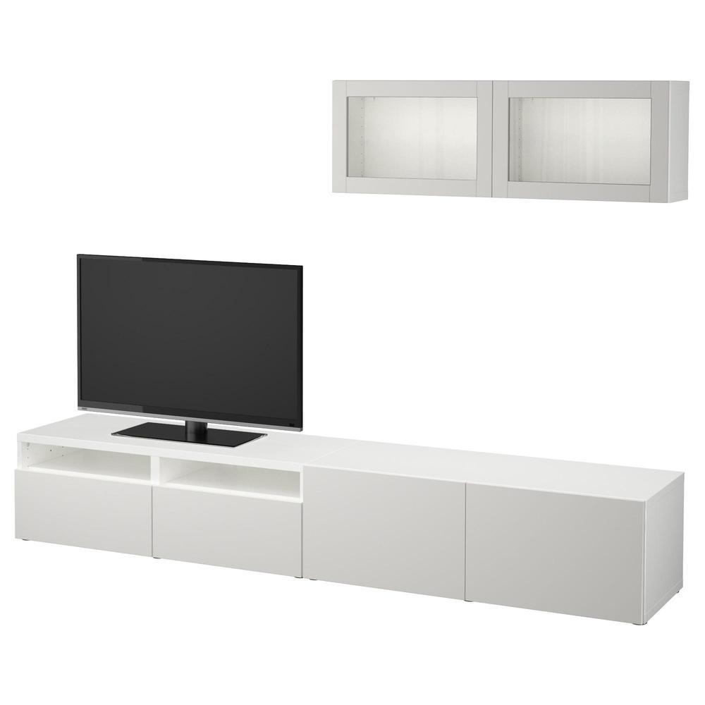 BESSTO Schrank für TV, Kombinierte / Glastüren - weiß / Lappviken ...