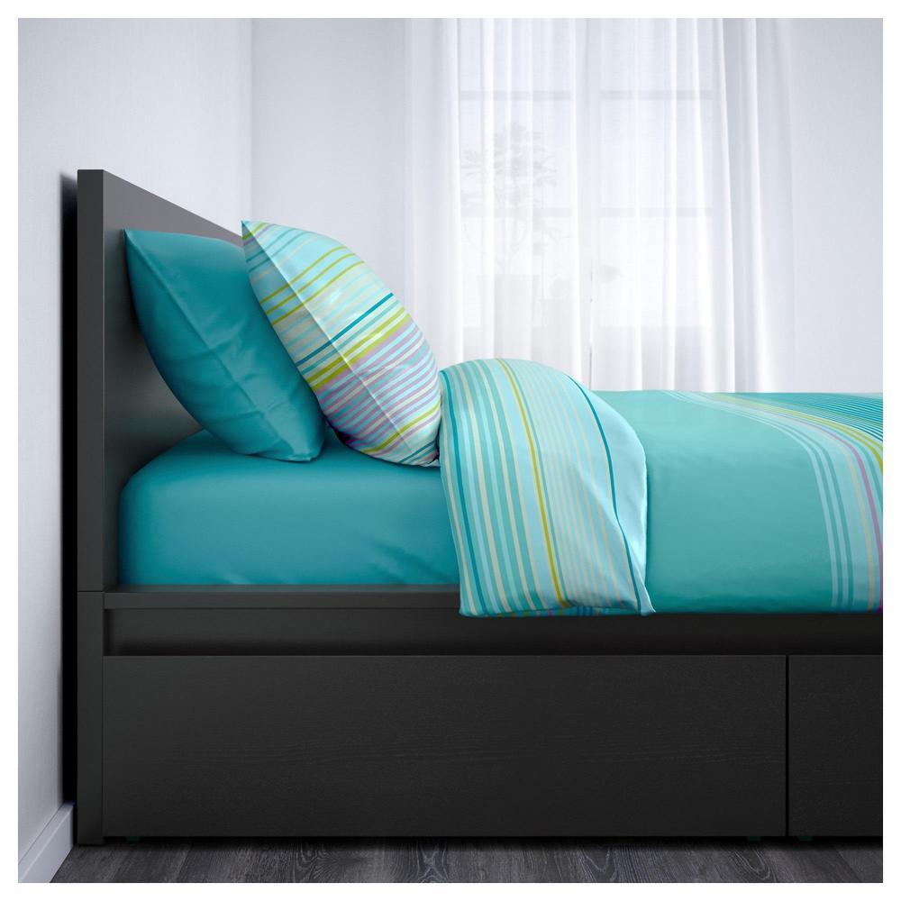 Malm Bed Frame 2 Storage Bo 90x200 Cm Luroy