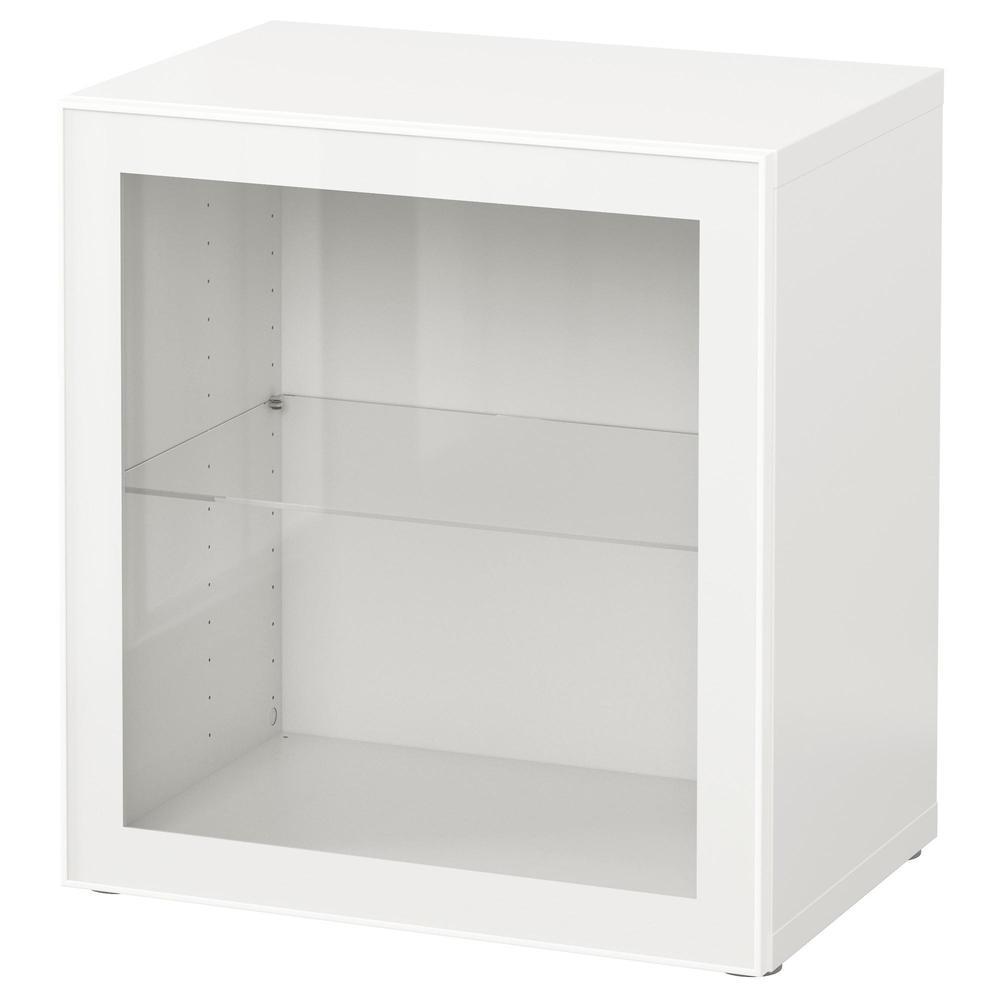 BESSTO Glasdeurplank - Wit / Glasvik Wit / Doorzichtig Glas (790.478 ...