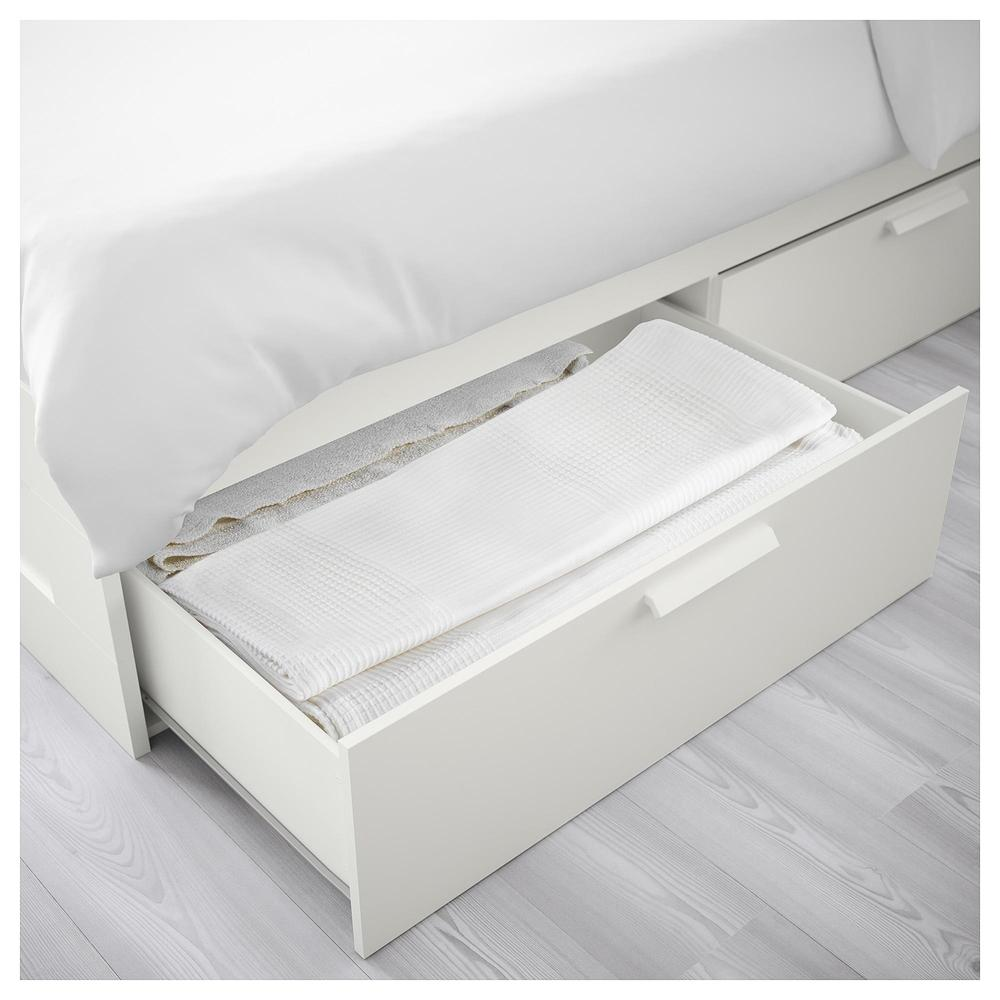 Brimnes Bed Frame With Drawers 140x200 Cm