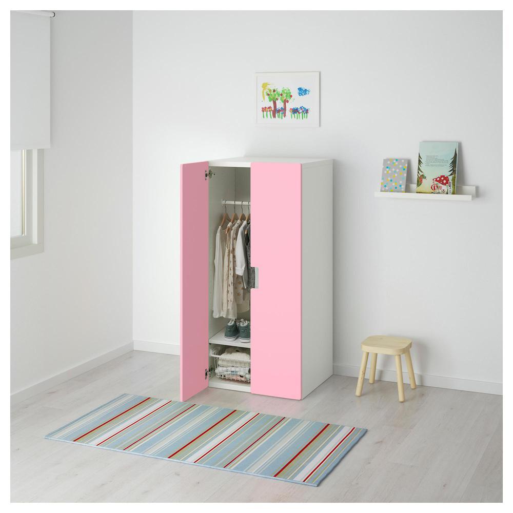 STUVA Combinación para almacenamiento con puertas - blanco   rosa ... 47f376c34522