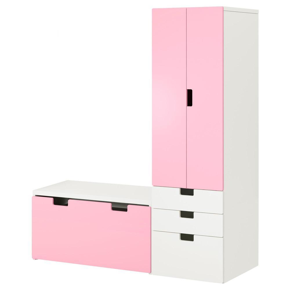 STUVA Combinación d   almacenado con un banco - blanco   rosa ... 11b18869275c