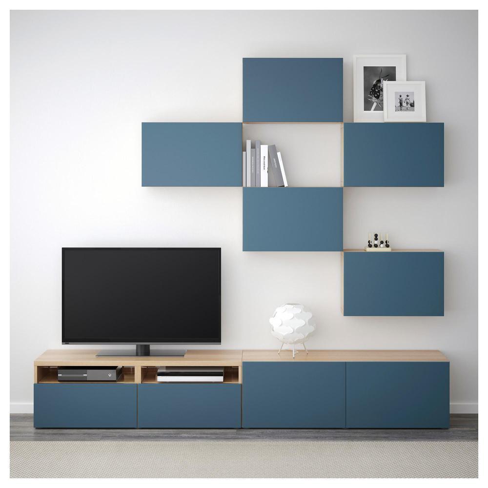 Meuble De T L Vision Besto Combinaison Ch Ne Blanchi Valviken  # Combinaison Murale Meuble Tv