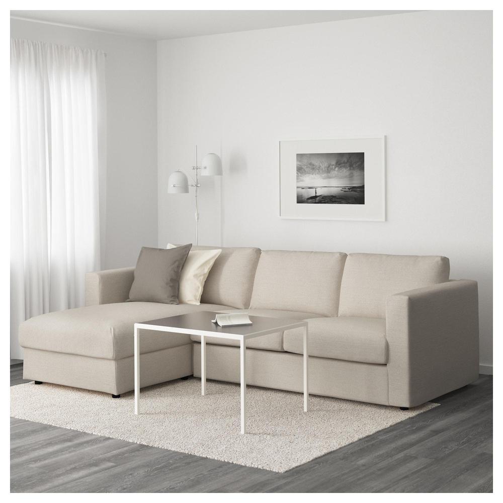 VIMLE 3 paikallinen sohva vuohilla Gunnared beige