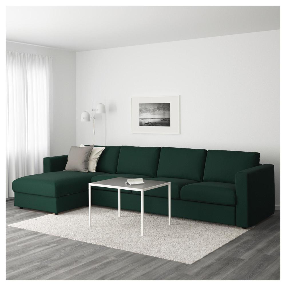Vimle 4 Local Sofa Con Una Cabra Gunnared Verde Oscuro 892 070