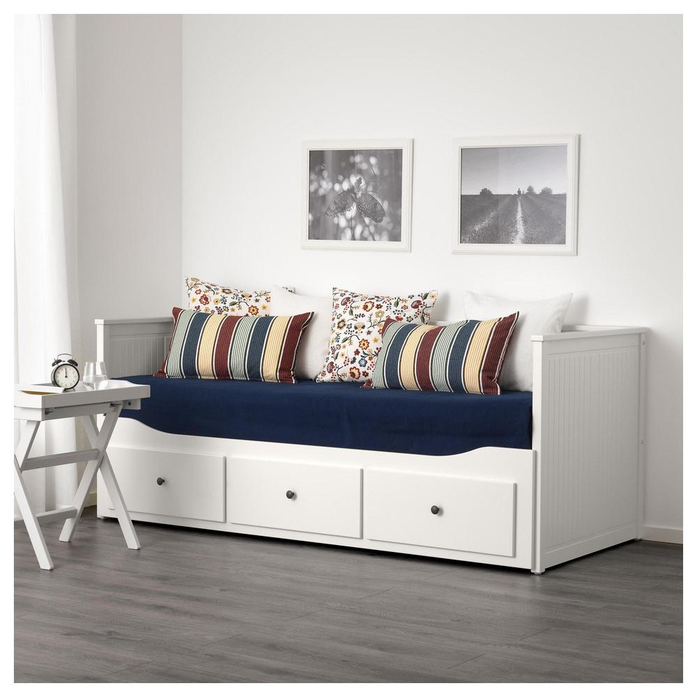 Hemnes Couch Avec Matelas 2 Tiroirs 3 Blanc Mulfors Durete Moyenne 892 111 98 Avis Prix Ou Acheter